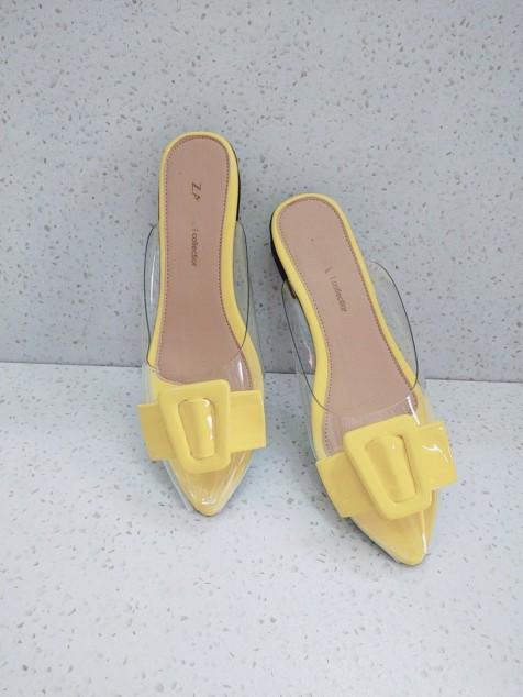 Giày sục nữ khóa chồn hoa HL con cáo , nơ vuông 07 giá rẻ