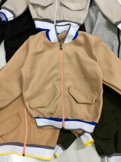 áo khoác cho bé trai, bé gái 12-22kg - áo khoác bomber dạ len ép mịn đẹp, ấm áp thumbnail