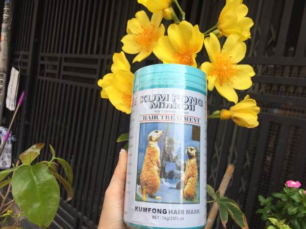 Hấp dầu hiệu con gấu KUM FONG dành cho tóc nhuộm 1 kg