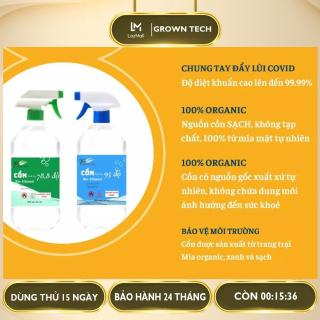 Cồn sinh học sát khuẩn organic an toàn 70 độ - 90 độ có vòi 1000ML (1 lít) thumbnail