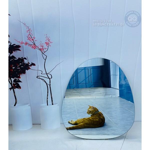 [HCM]Gương tròn treo tường vintage cổ điển quả trứng 60 60cm QT giá rẻ