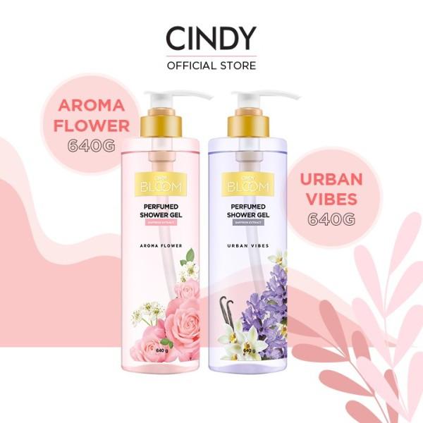 Combo sữa tắm nước hoa Cindy Bloom Aroma Flower 640g + Urban Vibes 640g