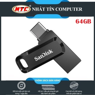 USB OTG Sandisk Ultra Dual Drive Go USB Type-C 3.1 64GB 150MB s (Đen) - Nhất Tín Computer thumbnail