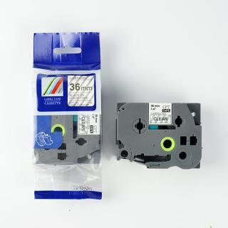 Nhãn in CPT-161 tương thích máy in nhãn Brother P-Touch - Nhãn in chữ đen nền trong suốt 36mm thumbnail