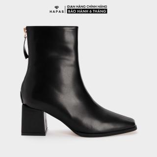 Giày Bốt Nữ Boot Da Mịn Mũi Vuông 5Phân HAPAS - BOT536