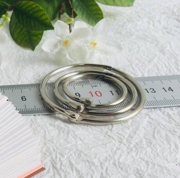 Mua 10 khoen tròn các loại dùng làm flashcard và đóng sổ handmade