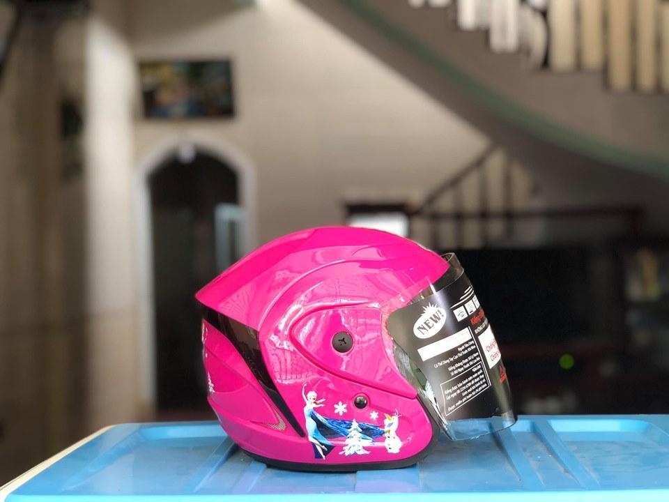 Giá bán Mũ bảo hiểm trẻ em -Mũ bảo hiểm trẻ em Asia 3/4 -  Mũ bảo hiểm 3/4 trẻ em có kính - HoanStore