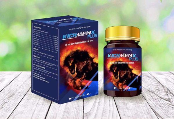2 hộp KICHMENXPLUS tăng cường sinh lý nam, bổ thận tráng dương, tăng ham muốn, mạnh gân cốt 28 viên