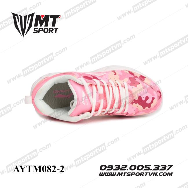 Giày cầu lông trẻ em Lining AYTM082-2 Hồng vằn giá rẻ