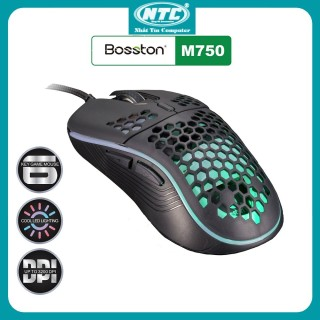 Mouse BOSSTON M750 LED Gaming Chính hãng, Chuột có dây cao cấp, Chuột chơi game, Chuột máy tính siêu víp thumbnail