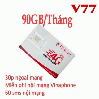 SIM 4G I TELECOM V77 CÓ 90GB THÁNG+MIỄN PHÍ GỌI thumbnail