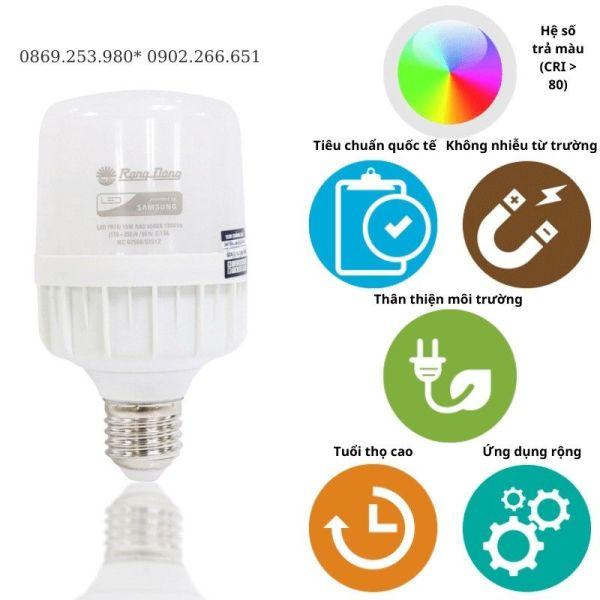 Đèn Led Bulb 15W Cảm Ứng Rada Rạng Đông