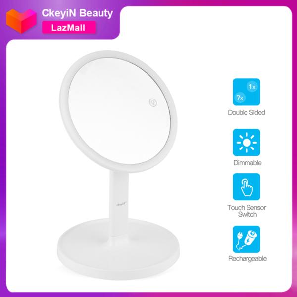 Gương trang điểm CkeyiN để bàn có đèn led cảm ứng cao cấp cổng sạc USB dùng cho gia đình - INTL giá rẻ