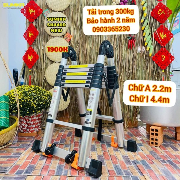 Thang nhôm rút đôi Sumika SK440D (2.2M+2.2M)