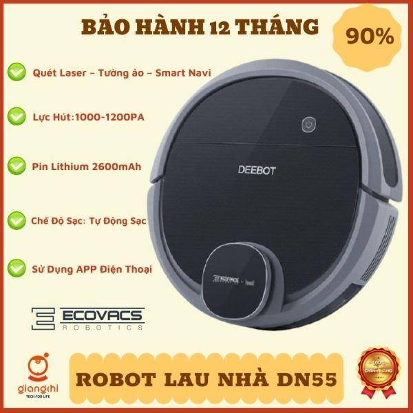 [ Thanh lý mùa dịch ] Hàng trưng bày 90% - Robot Hút Bụi Lau Nhà, ECOVACS DN55/DN56 -  Bảo hành 1 tháng uy tín tại Giang chi ecovacss house