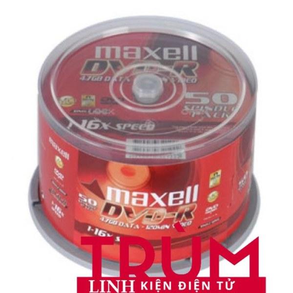 Bảng giá Free Ship- Đĩa trắng DVD maxell hộp 50c - Hàng Loại Tốt Phong Vũ