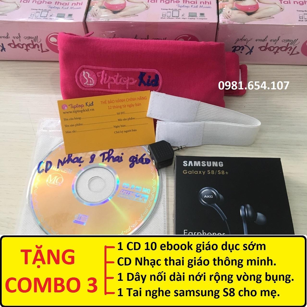 Coupon Giảm Giá TẶNG FULL (1 CD 10 Ebook Giáo Dục Sớm + Tai Nghe Ss S8 + Dây Nối Dài+ Đĩa CD Nhạc) -Tai Nghe Bà Bầu Tiptop Kid -  Tai Nghe Thai Nhi.