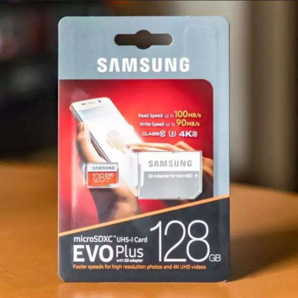 [Xả Kho]  Thẻ nhớ MicroSDXC Samsung Evo Plus 128GB UHS-I U3 4K 100MB/s kèm Adapter - box Anh