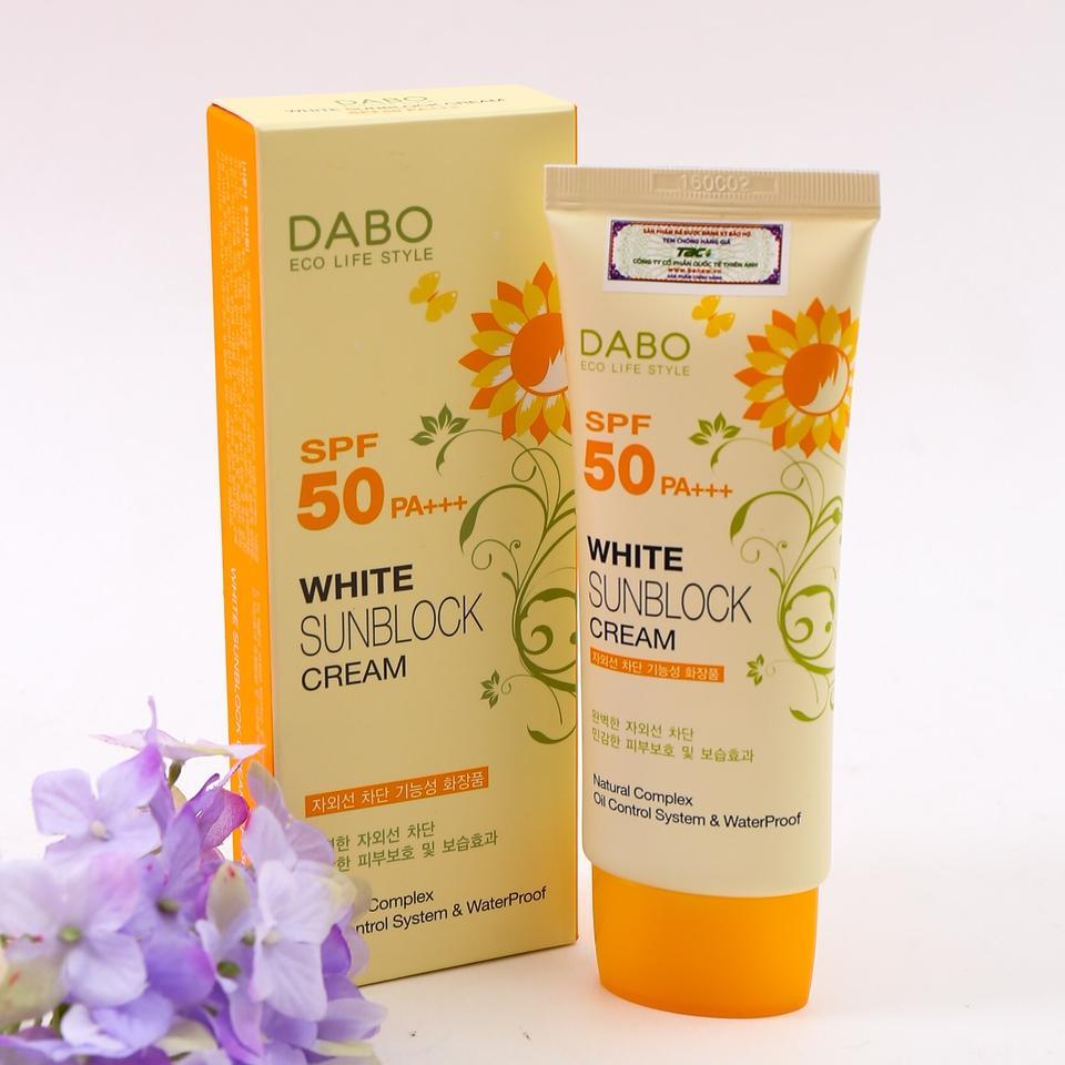 Kem chống nắng Dabo White Sunblock Cream 70ml