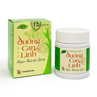 Thực phẩm bảo vệ sức khỏe Dưỡng Can Linh giúp giải độc và tăng cường chức năng gan mật, lọ 40 viên thumbnail