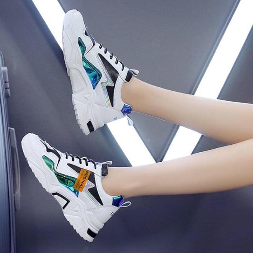 Giày thể thao nữ đế cao mới nhất vạch phản quang HAPU mã ORN (3 màu) giá rẻ