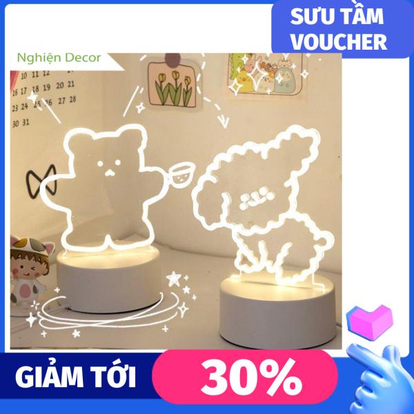 Đèn trang trí phòng ngủ để bàn hình gấu cute phong cách dễ thương và xinh xắn