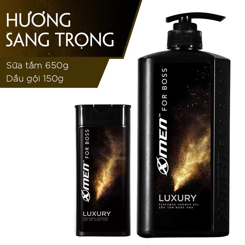 Sữa tắm nước hoa X-Men for Boss Luxury 650g (Tặng Dầu gội nước hoa X-Men for Boss Luxury 150g)