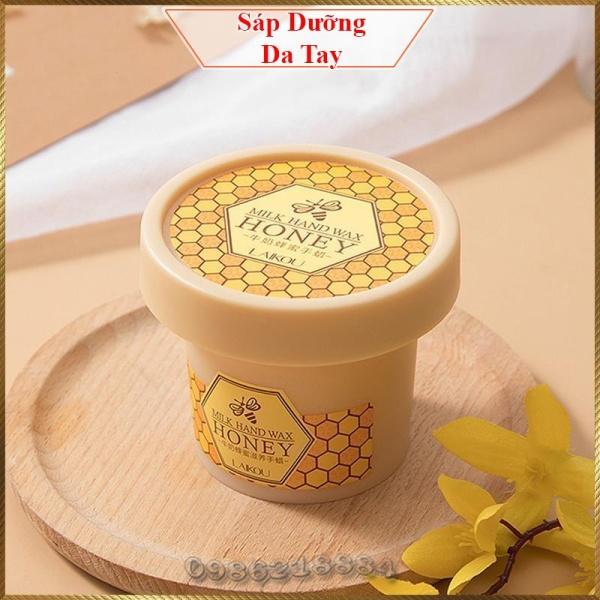 Sáp dưỡng ẩm da tay chiết xuất sữa và mật ong LAIKOU Milk Hand Wax Honey giúp tẩy tế bào chết và làm sáng da LHW8 giá rẻ