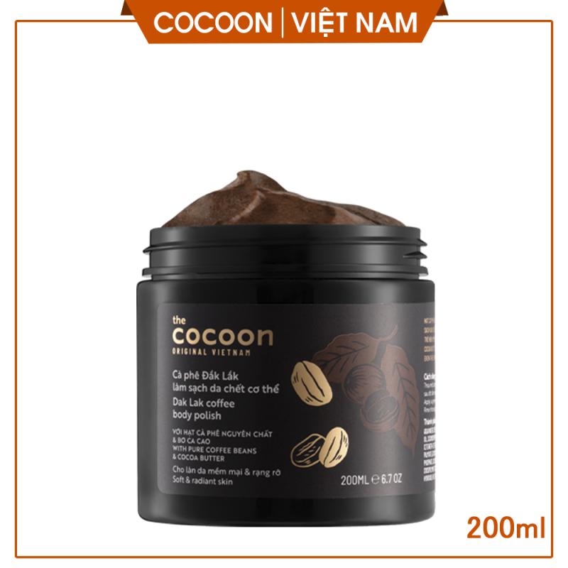 [LÀM SẠCH DA ]Cà phê Đăk Lăk làm sạch da chết, giúp sáng da, mịn da cocoon vietnam(Dak Lak coffee body polish) 200ml tốt nhất