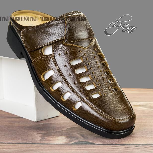 giày sục nam da bò đế cao su khâu siêu bền giá rẻ