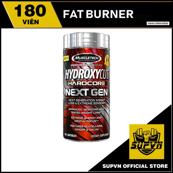 Hydroxycut Hadcore Muscletech 180viên - Viên uống đốt mơ giảm cân Fat burner Hydroxycut Next Gen 180 viên cao cấp