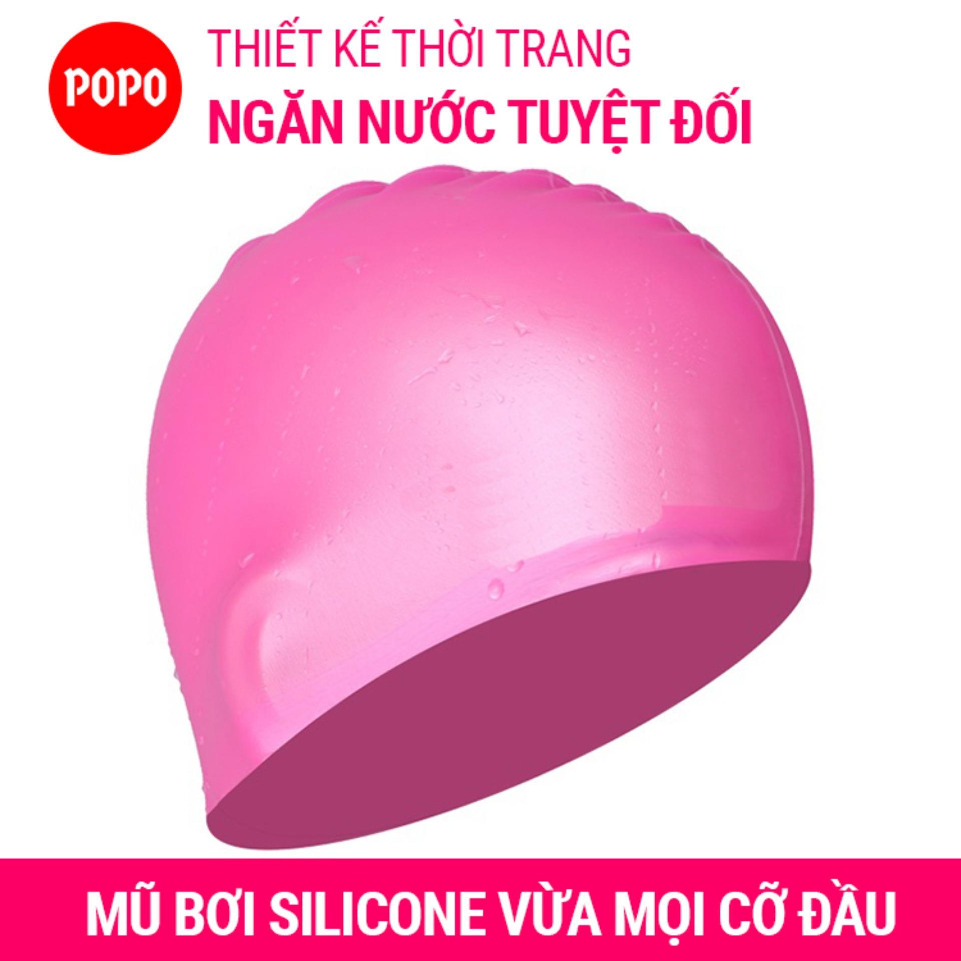 Nón bơi mũ bơi trơn silicone chống thống nước cao cấp CA31 POPO Collection 12