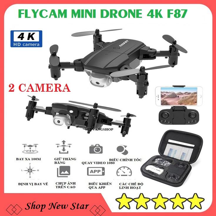 Flycam giá rẻ mini có 2 camera wifi siêu nhỏ-playcam chống rung quang học,chống va đập mạnh-máy bay flaycam 4K HD có đèn led quay ban đêm-may bay 4 canh co camera-Máy bay điều khiển từ xa quay phim, chụp ảnh hành trình, kết nối wifi