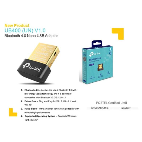 Bảng giá TP-Link Bluetooth 4.0 Bộ Chuyển Đổi USB Nano - UB400 - Hàng Chính Hãng Phong Vũ