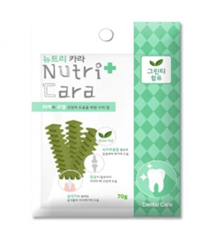 Snack Thơm Miệng Cho Chó Nutricara Hàn Quốc Dưỡng Chất Trà Xanh - Green Tea 70gr