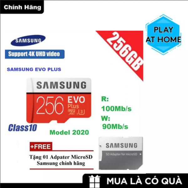 [ Giá Rẻ Bất Ngờ ] Thẻ nhớ MicroSDXC Samsung Evo Plus 256GB UHS-I U3 4K 100MB/s kèm Adapter - box Anh (Đỏ)