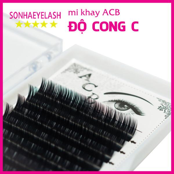 Mi khay acb độ cong C, chất mi silk hàn, mi mềm dễ bắt keo, dùng để nối mi volume, classic
