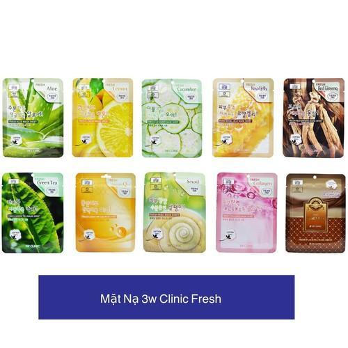 Mặt nạ dưỡng da 3W CLinic Fresh Mask Sheet 23ml (Giao màu ngẫu nhiên) nhập khẩu