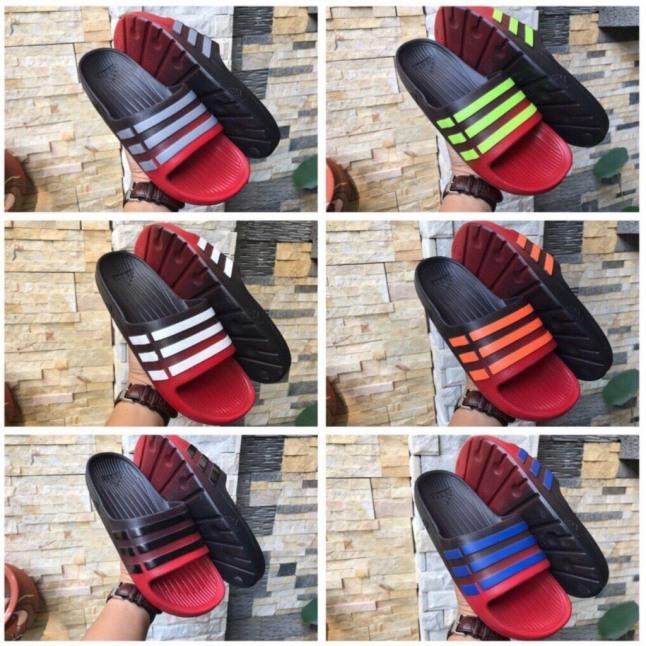 Dép Nam Đúc 3 Sọc Quai Ngang Adidas Duramo Marbled Hàng VNXK ( Hình Thật ) - Đế Phun Đen Xanh Non Sọc Trắng 20201009 010 giá rẻ
