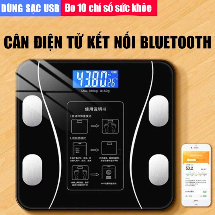 Cân Điện Tử Cân Sức Khỏe Sạc Usb Kết Nối Bluetooth Thông Minh Phân Tích Cân Nặng, Tỷ Lệ Mỡ Sức Khỏe