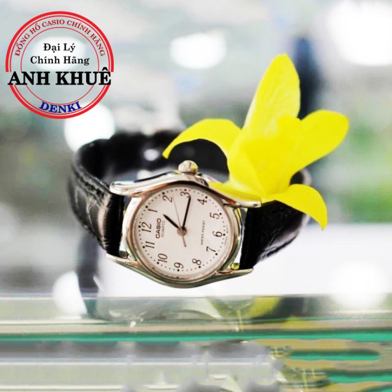 Đồng hồ nữ dây da Casio Standard Anh Khuê LTP-1094E-7BRDF nhỏ xinh