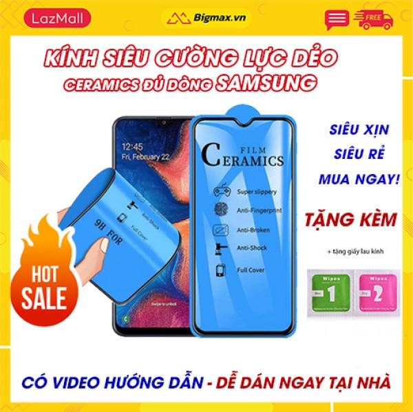 Kính cường lực Samsung A71 A51 A9 2018 S10 Plus A10s A10 Note 9 J7 Pro J7 Prime A70  A7 2018 S9 Plus  M20 M30 A11 A21s A31 - miếng dán màn hình Samsung full màn dẻo ceramics