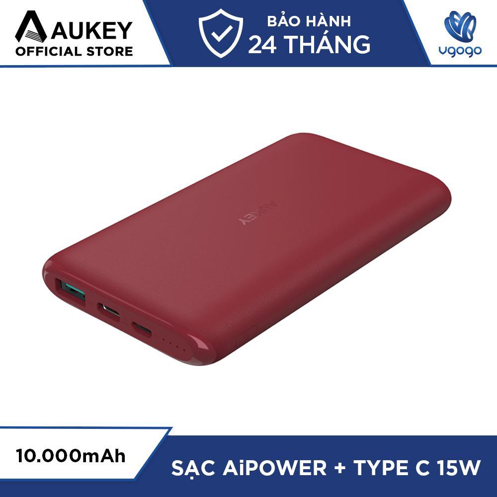 Pin Sạc Dự Phòng 10000mAh AUKEY PB-XN10 USB-C 15W & USB-A 12W Tích Hợp AiPower - Nhà Phân Phối Chính Thức