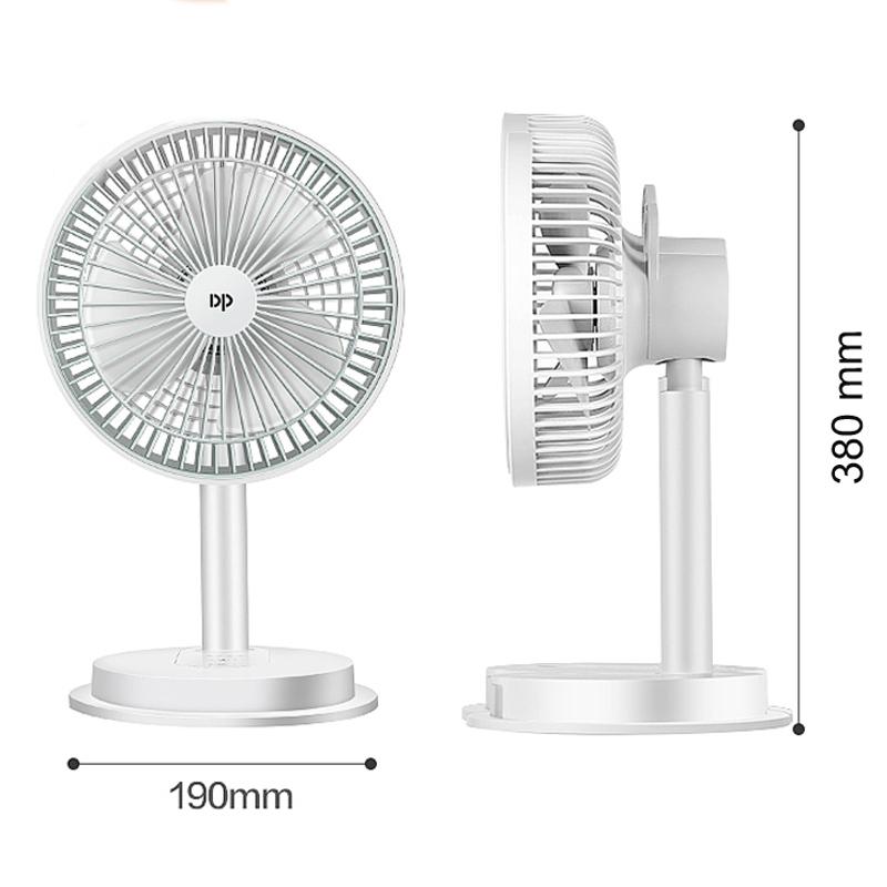 [KM23T3] Quạt tích điện có đèn led DP-7627 siêu mát, đèn led sang trọng