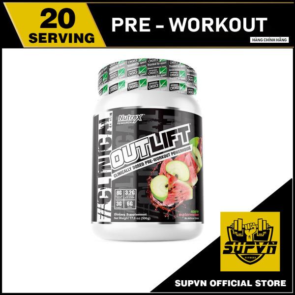 Outlift Nutrex Pre workout 20 lần dùng - Tăng sức mạnh trước tập kèm Bcaa phục hồi cơ