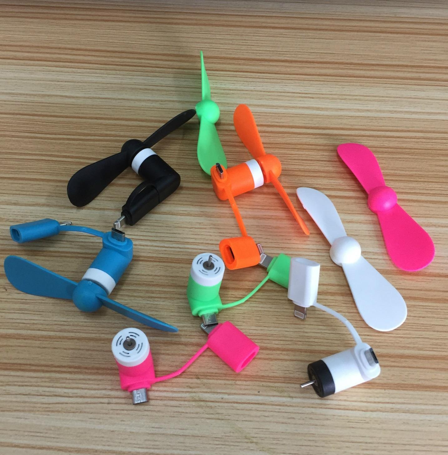 Quạt USB mini 2in1 Dùng Cho iPhone và Android