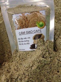 [Sale] Cám gạo cafe ( bột), tắm trắng, đắp mặt, rửa, tẩy da chết, làm đẹp ... túi 100g thumbnail