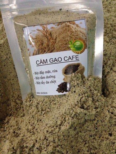 [Sale] Cám gạo cafe ( bột), tắm trắng, đắp mặt, rửa, tẩy da chết, làm đẹp ... túi 100g cao cấp