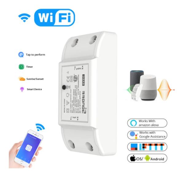 Công tắc wifi - Công tắc Sonoff Basic R2 điều khiển từ xa qua mạng wifi cho Nhà thông minh [Smart home]