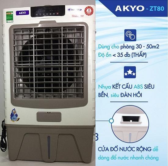 [Giá bùng nổ] Quạt Điều Hòa Không Khí Inverter AKYO Model ZT80 (sản xuất: Thái Lan. Diện tích sử dụng: 60-80m2). Quạt hơi nước - Midea Mart